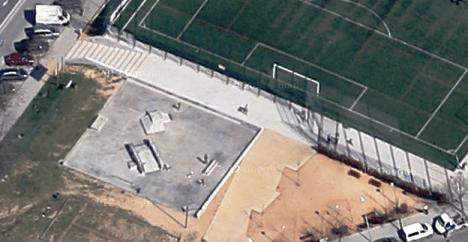 Sobre la superficie ya construida se levantará el edificio auxiliar / Foto: Google Earth