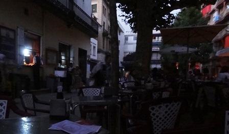 La terraza del bar Terrassans, pasadas las 21 horas / Foto: JFG