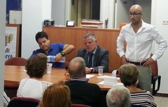Jaume Dulsat, a la dreta de la imatge / Foto: CiU Lloret de Mar
