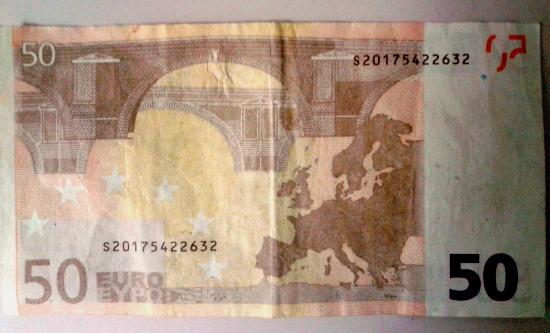 Billet fals de 50 euros