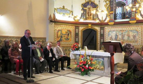 L'alcalde Josep Marigó durant la lectura del Vot de Vila / Joaquim Llorens