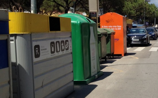 Contenidores para el reciclaje de residuos
