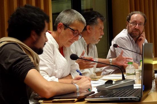 Els membres del grup municipal d'EUiA-ICV / JFG