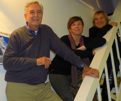 Josep Maria Martin amb l'equip de viatges Blanes / Ajuntament de Blanes