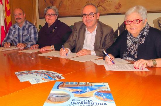Moment de la firma del conveni / Ajuntament de Blanes