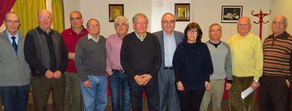 La nova junta de l'entitat amb l'alcalde Josep Marigó / Ajuntament de Blanes