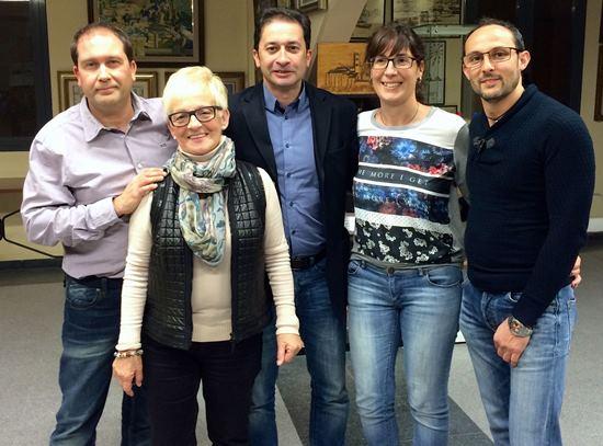 Els cinc primers candidats de la llista d'ERC de Blanes