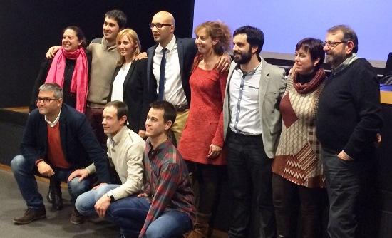 Jaume Dulsat amb membres del seu equip