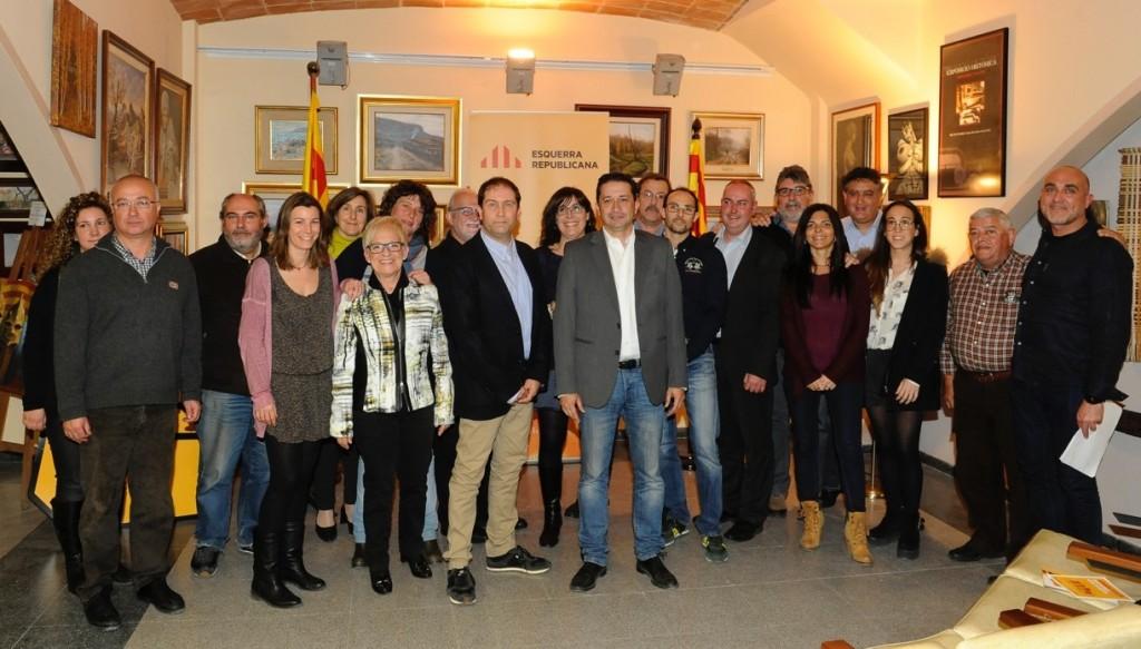 Els membres de la candidatura d'ERC Blanes