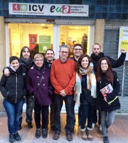 El primers nou candidats d'ICV-EUiA de Lloret