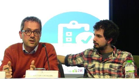 Els regidors Xavier Rodríguez i Víctor Catalan