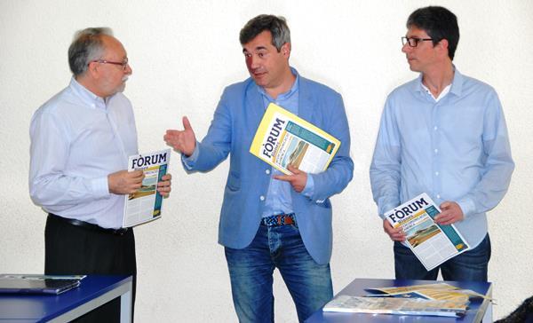 MIquel PInto, Joaquim Torrecillas i David Escobedo, durant l'acte