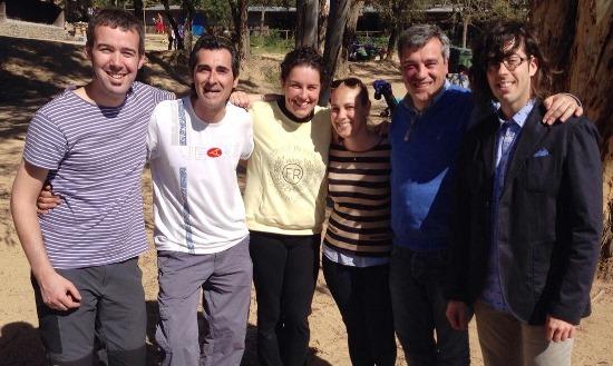 El candidat de CiU, Joaquim Torrecillas amb simpatitzants i militants de CiU a l'aplec del Vilar d'enguany