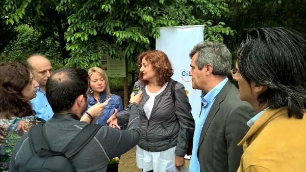 D'esquerra a dreta, Josep Maria Botella (Palafolls), Rosa Salarich (Tordera), Neus Serra (Malgrat de Mar), Quim Torrecillas i Juanjo Navarro (Blanes)