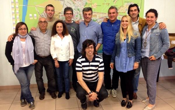 Foto de grup del 10 primers candidats de la llista de CiU Blanes