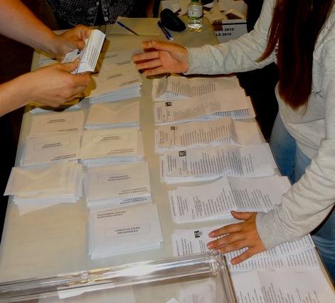 Recuento de votos en Racó d'en Portas / JFG
