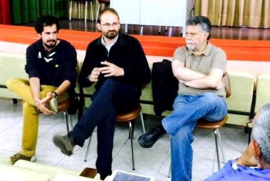 Víctor Catalan, Joan Herrera i Joan Salmerón