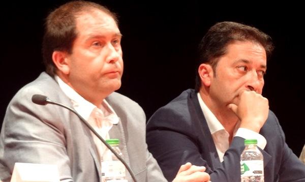 Els regidors d'ERC Àngel Camosa, a la dreta, i Albert Sanz / JFG