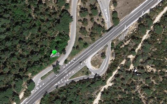 Accesos de la N-II a Tordera Parc / Google Earth