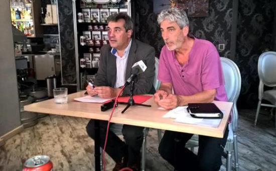 Joaquim Torrecillas y Miquel Lupiáñez, ayer durante la rueda de prensa