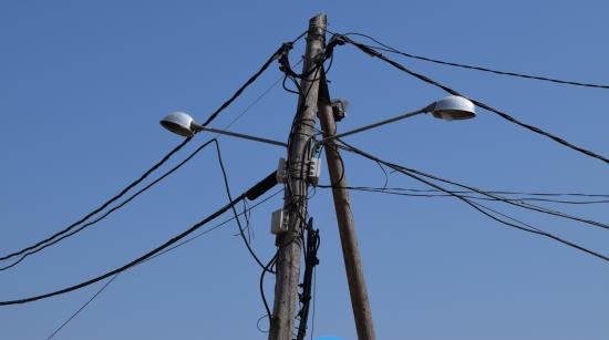 Cables d'electricitat a Vilobí d'Onyar