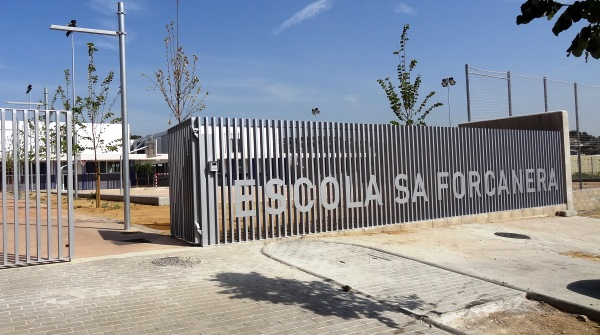 La entrada de la nueva Escola Sa Forcanera / JFG