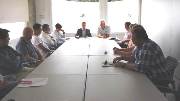 Reunió de membres de CiU i IdS per pactar el govern del Consell Comarcal