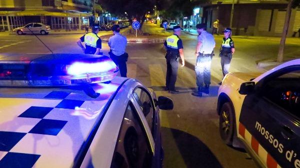 Vigilància policial a la zona d'oci de Blanes
