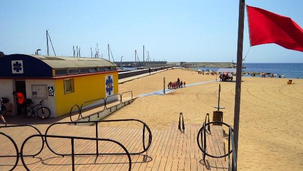 Zona Blanes centre tancada al bany