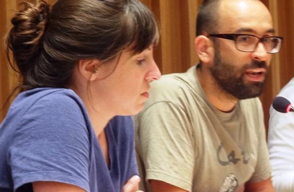 La regidora de la CUP Clara Castrillo i el regidor Jaume Pujades / Arxiu