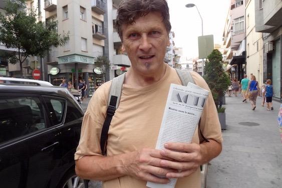 Udo Baumann, ayer en la rambla Joaquim Ruyra / JFG