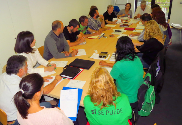 Foto de la reunió de la Taula pel Dret a l'Habitatge celebrada a finals de setembre de 2015 / Ajuntament de Blanes