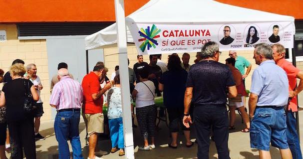 Acte realitzat avui al barri de Mas Florit