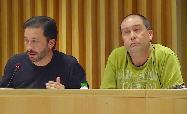 Els regidors d'ERC, Àngel Canosa i Albert Sanz / JFG