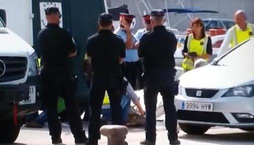 Trasllat dels cosos al Port de Blanes / Foto: Vídeo TV3