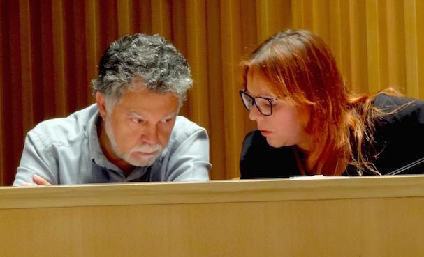 El regidor Joan Salmerón i la regidora Dolors Rubio