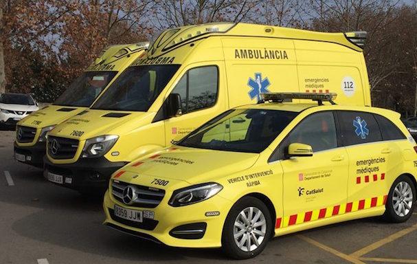 Foto de les ambulancies del SEM / Generalitat de Catalunya