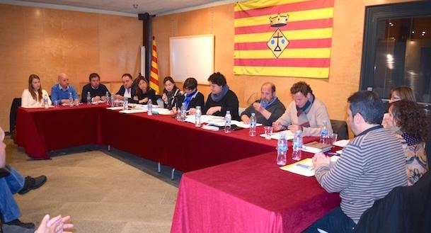 Imatge del ple de l'Ajuntament de Vilobí d'Onyar