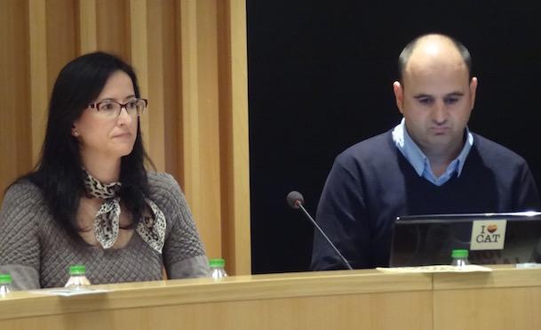 Margarita Sanro y Sergio Atalaya, concejales de Ciutadans en el Ayuntamiento de Blanes