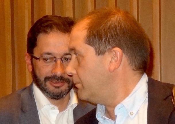 Els regidors d'ERC Àngel Canosa i Albert Sanz