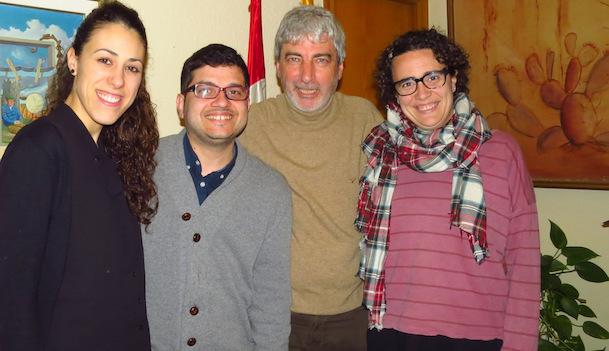 D'esquerra a dreta Mireia Montes, Oriol Gallart, Miquel Lupiáñez i Laia Buixeda / Ajuntament de Blanes