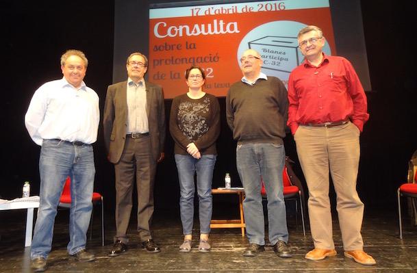 D'esquerra a dreta Rafel Sardà, Pere macias, Nuri Forns, Manel Nadal i Salvador Milà / Blanesaldia.com