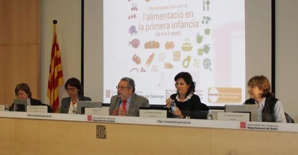 Presentació Guia Alimentació de 0 a 3 anys / Generalitat de Catalunya