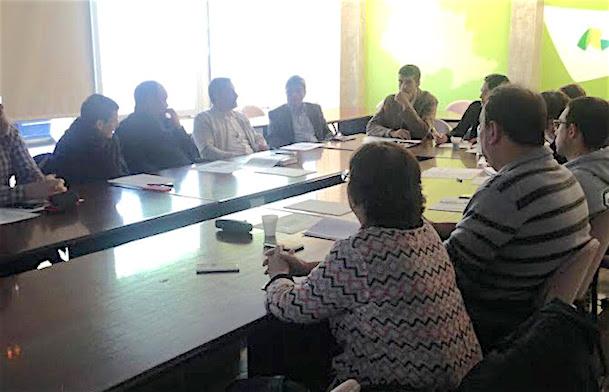 Imatge de la reunió / Consell Comarcal de la Selva