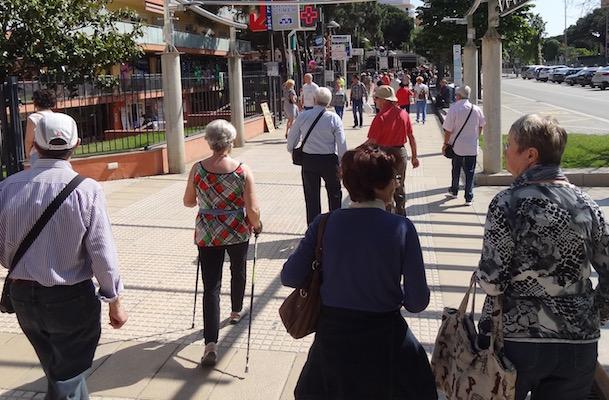 Turistas en Santa Susanna, el pasado mes de mayo