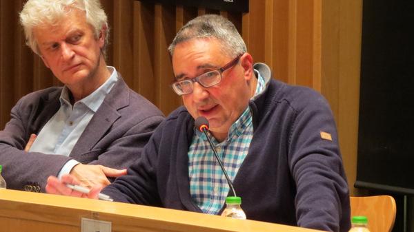 A la dreta Nicolás Laguna, regidor d'Hisenda / Ajuntament de Blanes